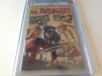 AVENGERS 4 CGC 9.8 WHITE PAGES WIZARD ACE EDITION BEAUTIFUL COPY MARVEL COMICS