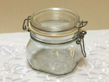 Vintage Fidenza Glass Storage Jar Canister Made In Italy 1/2 Liter Hay Bale