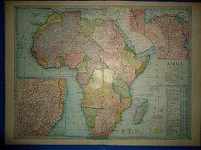Vintage Circa 1904 Africa Map Antique Original & Authentic Atlas Map - Free S&H