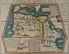 AFRICA WOODCUT MAP 1540 SEBASTIAN MUNSTER PTOLEMY TABULA APHRICAE AFRIKA I99