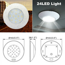 12-24V Universal Switch Control Round 24LED Light Car Roof Reading Ceiling Lamp
