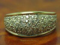 14kt 585 GELB GOLD RING MIT 1,00ct BRILLANT BESATZ / DIAMANT / 5,6g / RG 59