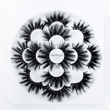 Neflyon Calidad Premium Pestañas 25mm 3 estilos diferentes 100% hecho a mano de largo y 7