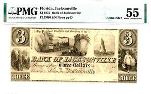 1837  $3    Florida    Bank of Jacksonville.  PMG 55