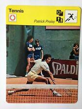CARTE EDITIONS RENCONTRE 1977 / TENNIS - PATRICK PROISY