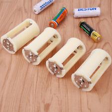 B1D2 4PCS Parallel Adapter Battery Holder Case Box Converter Adaptor 3 AA To D S