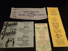 Lot of 6 Ticket Stubs  COLLEGE & HIGH SCHOOL THEATRE PRODUCTIONS Grease  Marisol