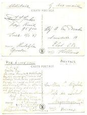 NEDERLAND S.M.N 1947 2 x PPC = S.S.JOHAN DE WITT= MILITAIR  VF