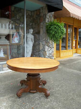 Grand Victorian Oak Pedestal Dining Table by The Roper Furniture Co 19th century