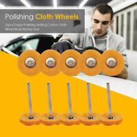 10pcs 3mm T-type Round Polishing Buffing Cotton Cloth Wheel Brush Rotary Tools