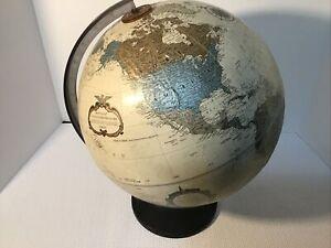 """Replogle 12"""" Diameter World Globe Platinum Classic Series - Raised Relief"""
