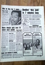 BEATLES HEY JUDE OTIS REDDING news 1968 UK ARTICLE / clipping