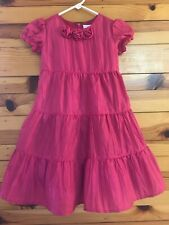 Hanna Andersson Rosette Tulle Twirl Power Dress Girls Pink Size 110  5-6X