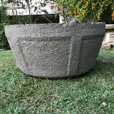 LARGE GARDEN POT ~ OUTDOOR PLANTER ~ CONCRETE VINTAGE RETRO ~ 1950s ~ AUSTRALIAN