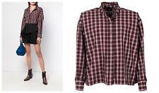 ISABEL MARANT Check Ruffle Oversized OLENA Shirt Blouse, FR 34