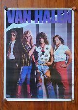 Van Halen vintage Poster ! Eddie David Lee Roth 70's 80's Guitar Led Zeppelin