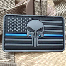 U.S.A. PUNISHER SKULL USA ARMY FLAG 3D PVC MORALE BADGE TACTICAL PATCHES