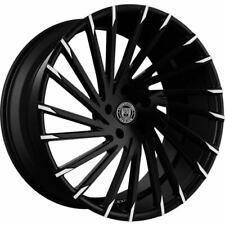 "4ea 18"" Lexani Wheels Wraith Black W Machine Tips Rims (S5)"