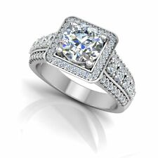Jewelry & Watches Buy Cheap 1.59 Ct Diamond Engagement Hallmarked 18k Solid White Gold Rings Size N M K L O Various Styles