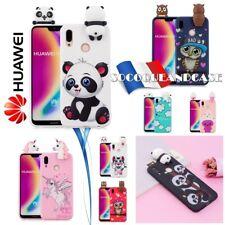 Adorable Etui housse coque Cartoon 3D Silicone Case Cover Huawei P20 Lite & Pro