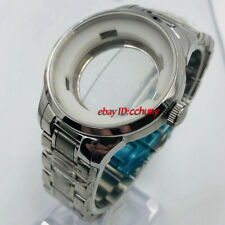 39mm Silver watch case Fit ETA 2836,Miyota 8215 821A 8205 ,DG2813/3804 movement