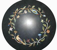 "18"" Marble coffee Table Top Inlay Handicraft luxurious Table Bedoom Decor"