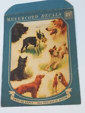 Vintage Meyercord decals Boston Terrier Collie Wire fox Scotty Irish setter dog