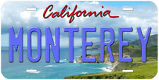 Monterey California Novelty Car License Plate