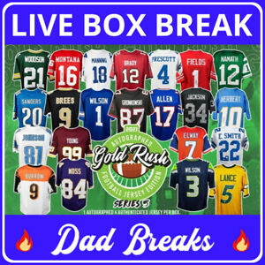 NEW YORK GIANTS Gold Rush autographed/signed football jersey LIVE BOX BREAK