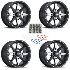 4 ATV/UTV Wheels Set 14in ITP Cyclone Matte Black 4/110 5+2 IRS
