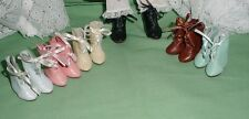 Doll Shoes, 37mm Cream Leather Boots fit *Global Bleuette