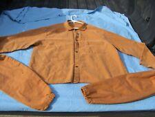 Used Vintage Welders Wear Men Size Xl Copper Brown Flame Resistant Shirt Bonus