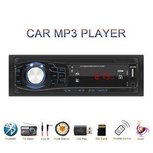12V Car FM Radio Stereo MP3 Music Player Bluetooth LCD Display Screen AUX/USB/TF