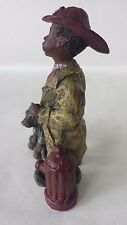 Sarah's Attic Fireman Willie #7606 African American Fire Hydrant with Dog