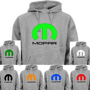MOPAR Gray Hoodie DODGE HEMI MUSCLE CAR Size SMALL NWT Assorted Colors