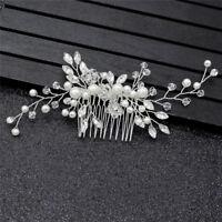 Crystal Pearls Women Hair Jewelry Wedding Hair Comb Bridal Headpieces Fashioncri