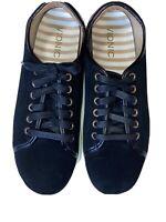 Vionic Women's Jean Suede Water Resistant Cupsole Sneakers Size 8.5  Black