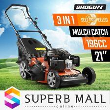 "21"" Lawn Mower 196cc Push Self Propelled Lawnmower 4 Stroke Petrol Mulch Catch"
