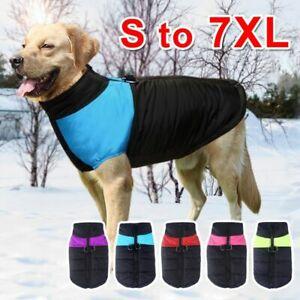Big Dog Warm Clothes Pet Vest Jacket Waterproof Dog Coat Clothes  Clothing