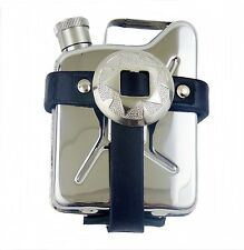 Borsa da cintura pelle con Flachmann Pallone tasca Tanica Acciaio inox Concha