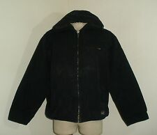 Mens SMITH'S Workwear SHERPA Lined Duck Canvas HOODED Work Jacket Coat XL