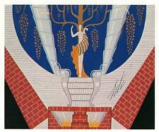 Vintage Erte Art Deco Print 1938 Stage Set Bal Tabarin