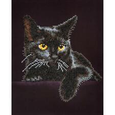 """Diamond Dotz Diamond Embroidery Facet Art Kit 13.75""""X17"""" Midnight Cat"""