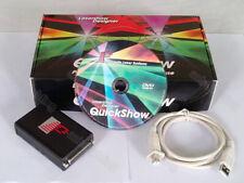 Pangolin QuickShow 3 LaserShow Designer Software + Interface + 16 ft ILDA Cable