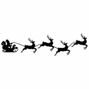 "8.5"" SANTA & REINDEER *s* Vinyl Decal Sticker Car Window Laptop Christmas Sleigh"