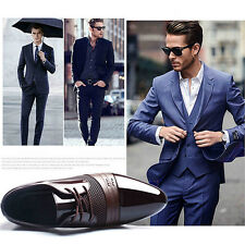 New Fashion Men's Dress Formal Oxfords Leather Shoes Business Casual Loafers