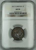 1817 Great Britain 1s Shilling Silver Coin George III NGC AU-50 AKR