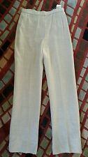 $1100 BILL BLASS RUNWAY HIGH RISE LINEN LONG SPRING DRESS PANTS 6