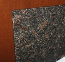 """Tan Brown 4"""" Spread Bathroom Vanity Double Oval Shape Sink Granite Top 61"""""""