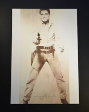 """Andy Warhol, """"Elvis Presley"""" (Sepia Toned Image). Hand Signed by Warhol, w/ COA"""